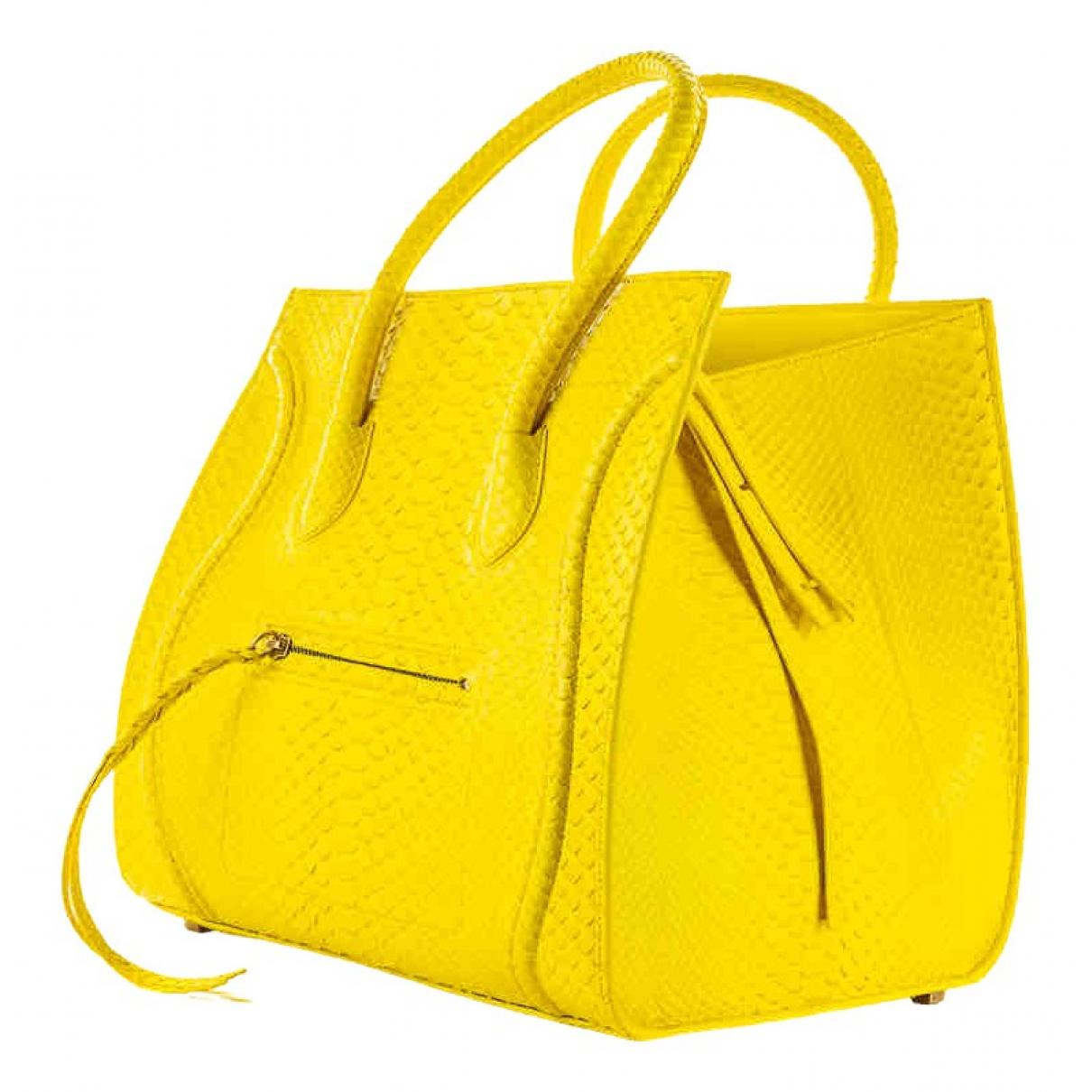 Celine Luggage Phantom Yellow Python handbag for Women \N