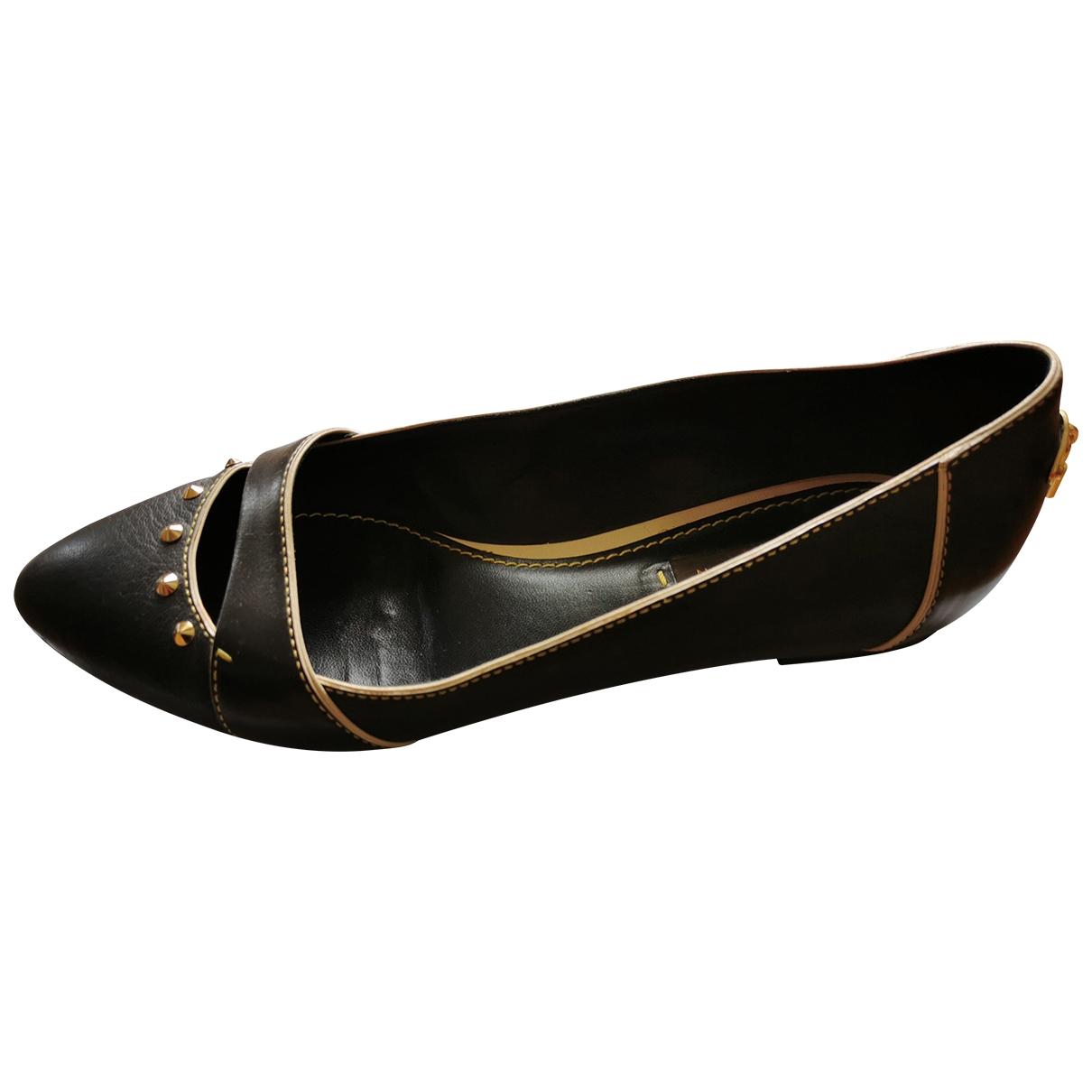 Louis Vuitton - Ballerines   pour femme en cuir - noir