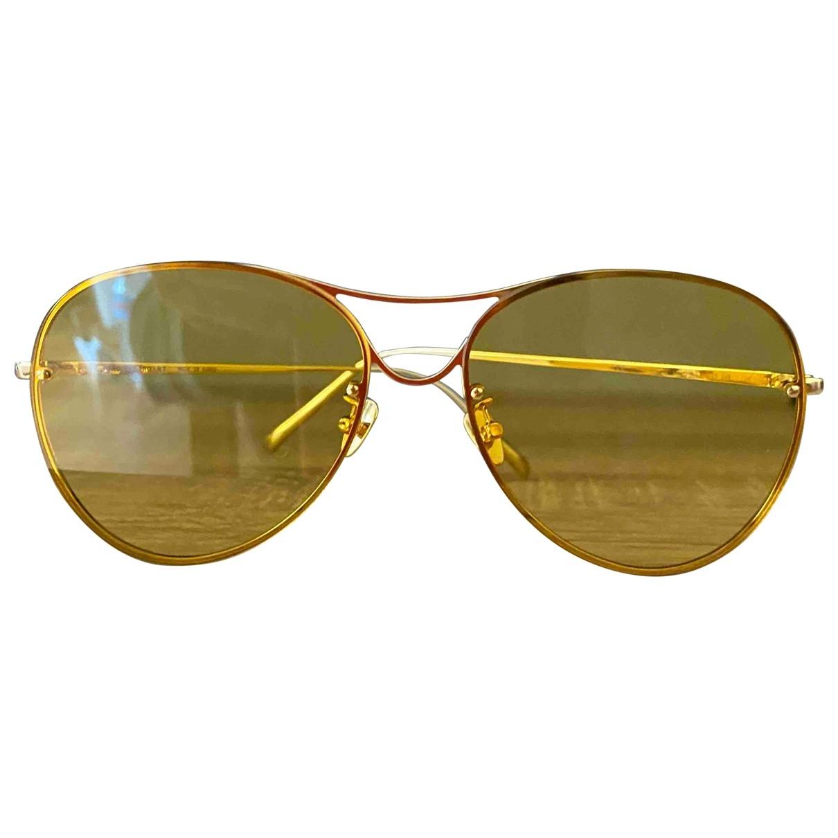 Projekt Produkt \N Yellow Metal Sunglasses for Women \N