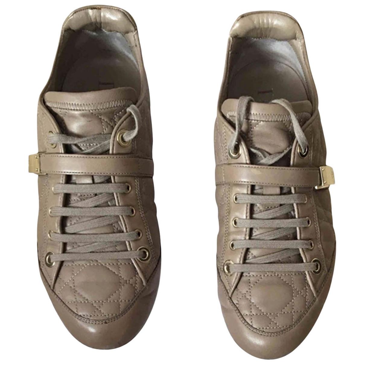 Dior \N Sneakers in  Khaki Leder