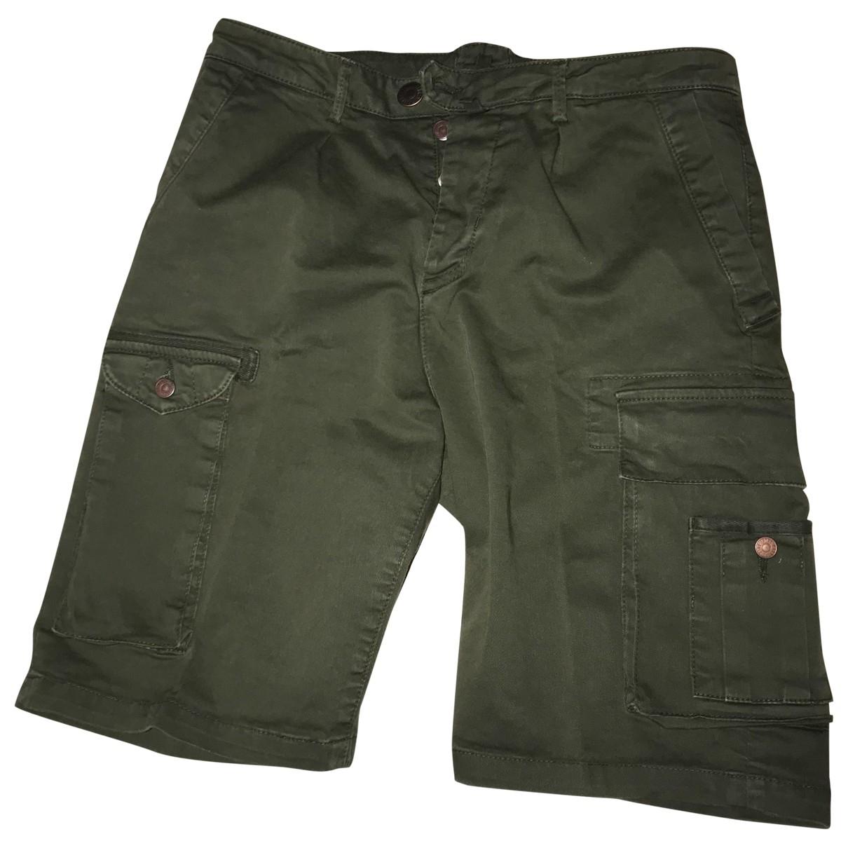 Pantalones en Algodon Verde Non Signe / Unsigned