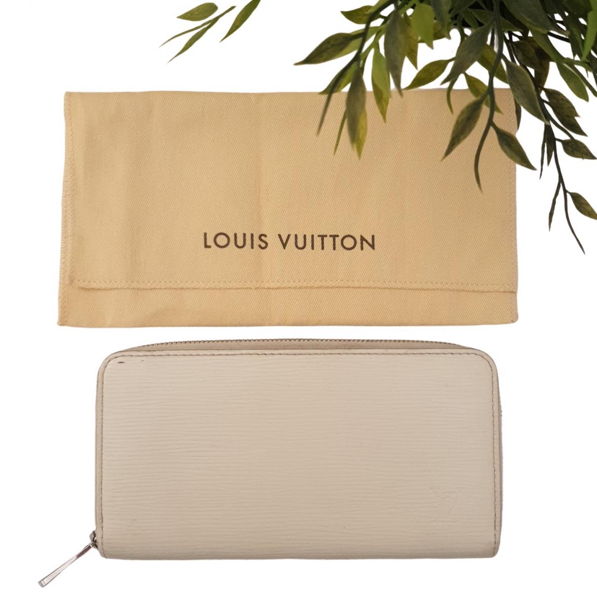 Louis Vuitton Zippy White Leather wallet for Women \N