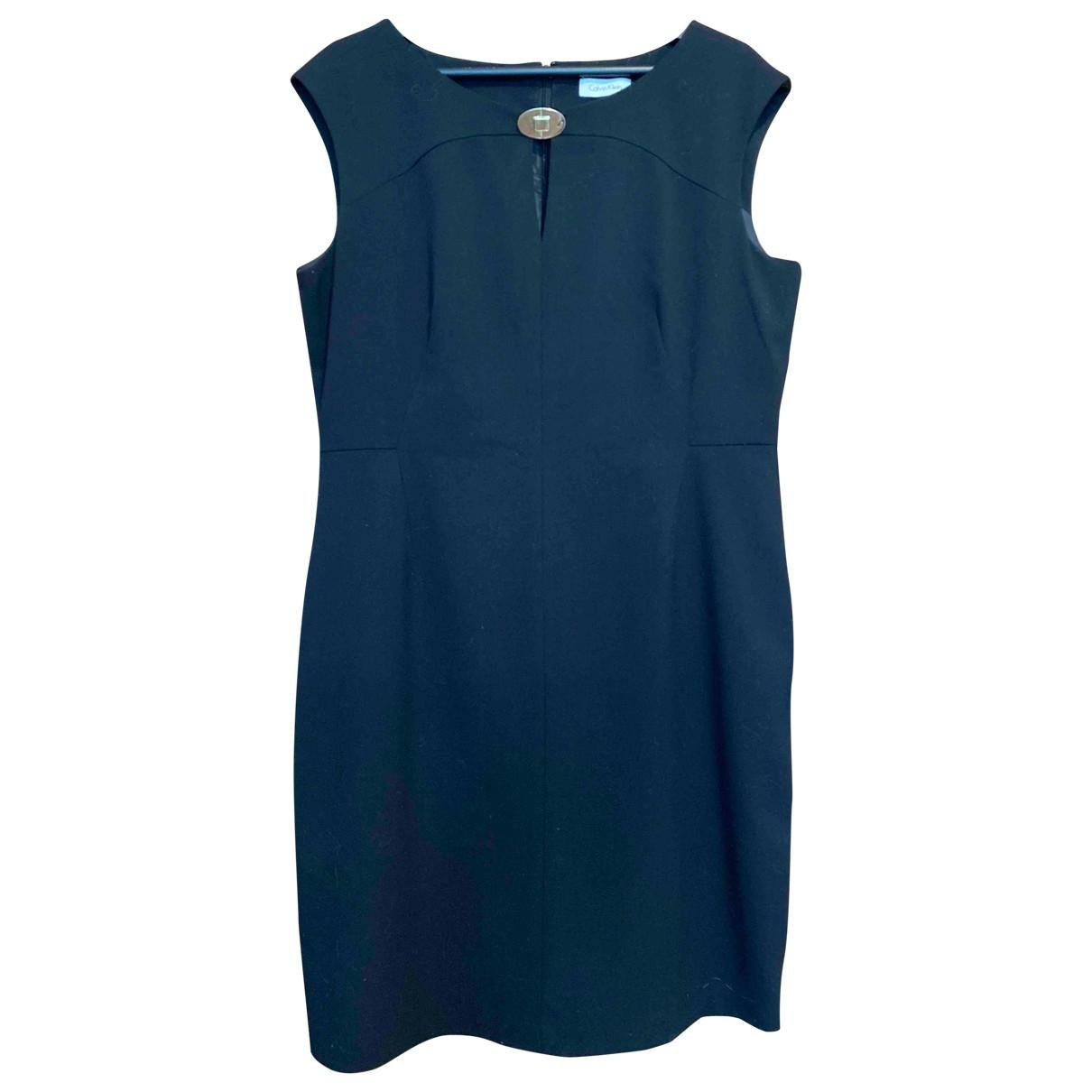 Calvin Klein \N Kleid in  Schwarz Synthetik