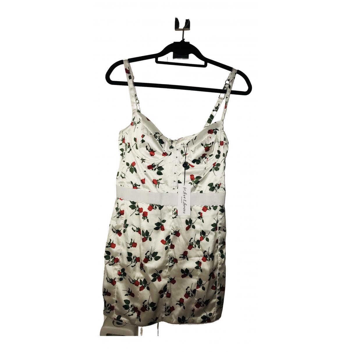 For Love & Lemons \N Kleid in  Weiss Polyester