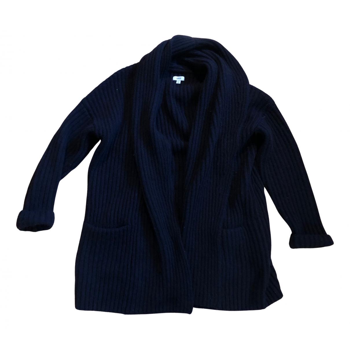 Vince - Pull   pour femme en laine - bleu