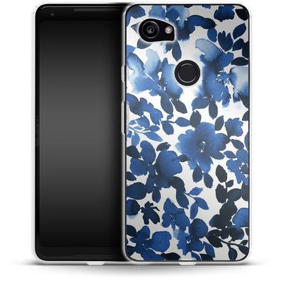 Google Pixel 2 XL Silikon Handyhuelle - Sophia Blue Floral von Amy Sia
