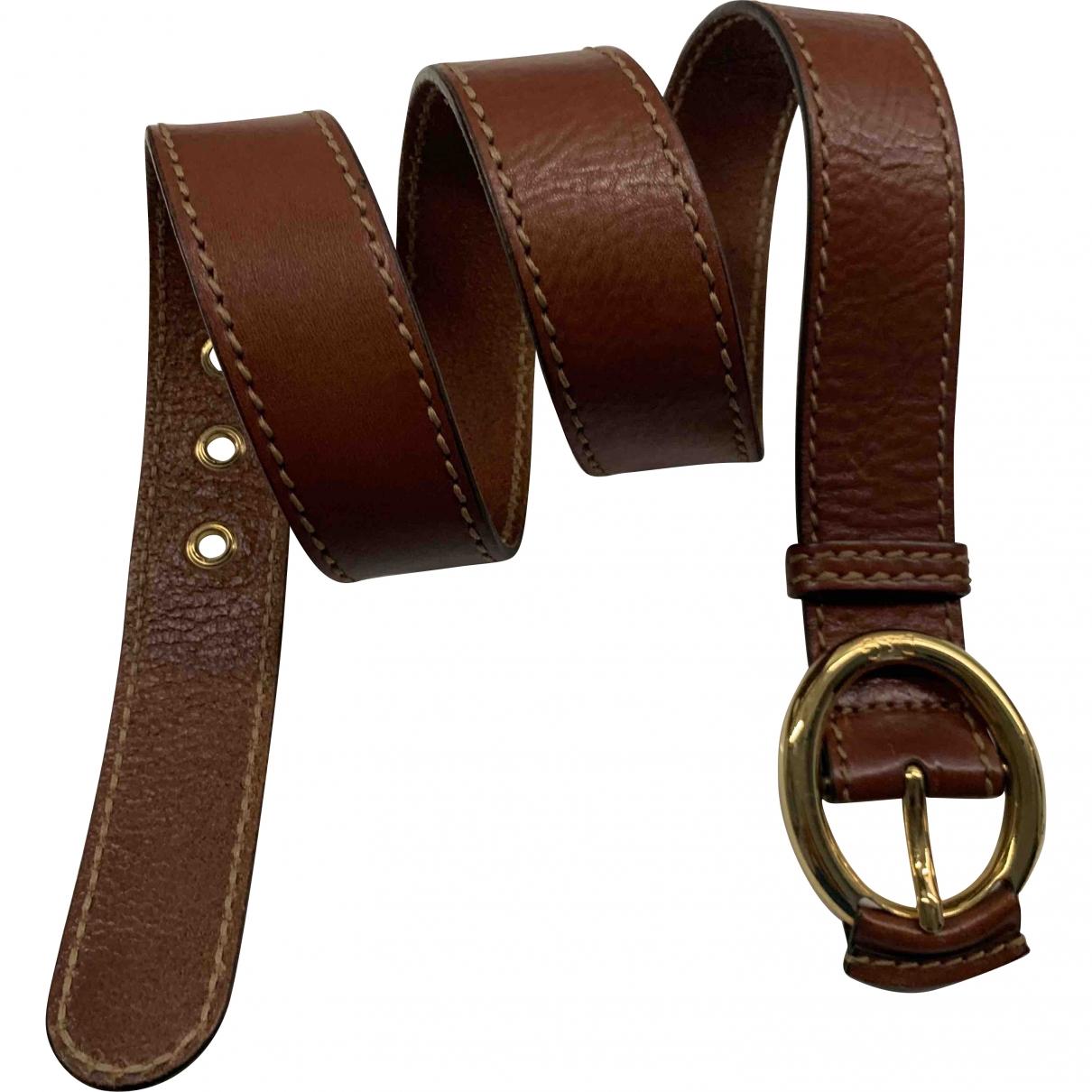 D&g \N Brown Leather belt for Women S International