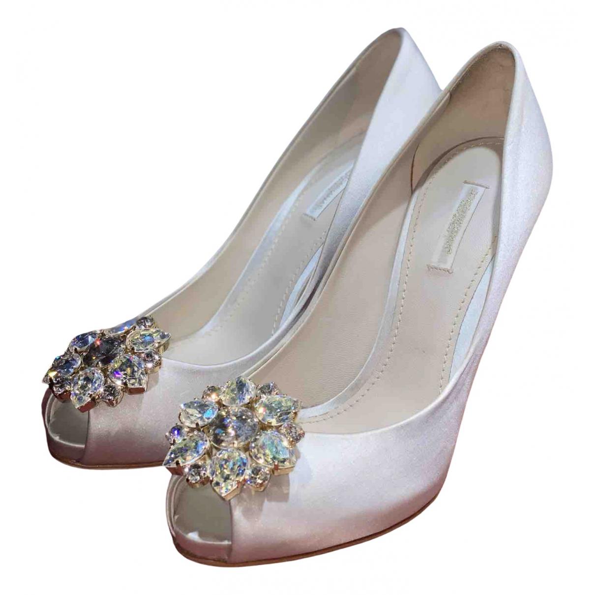 Dolce & Gabbana N Grey Cloth Sandals for Women 38 EU