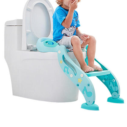 Adjustable Toddler Toilet Potty Chair with Non-Slip Ladder, Handles and Splash Guard for Kids