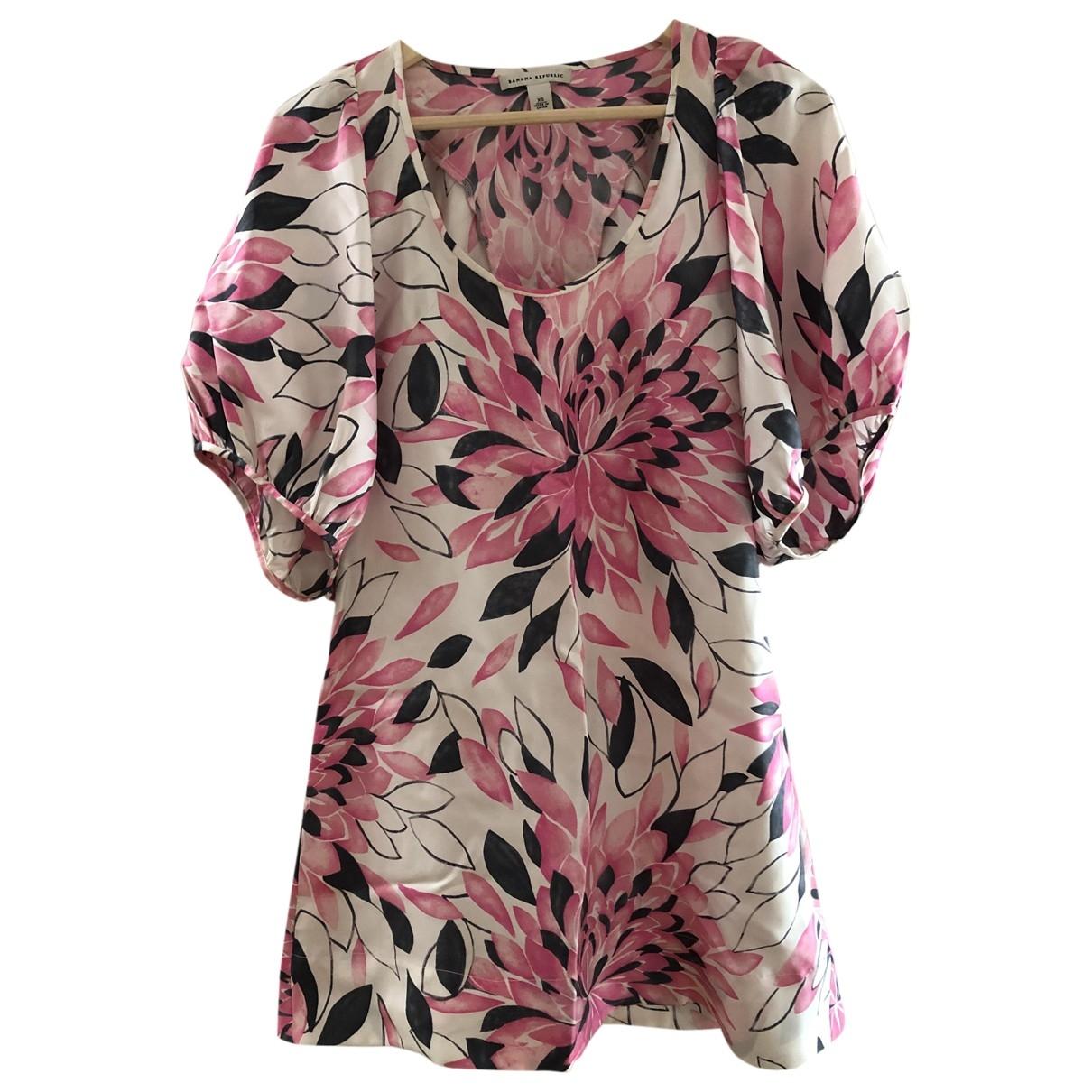 Banana Republic - Robe   pour femme en soie - rose