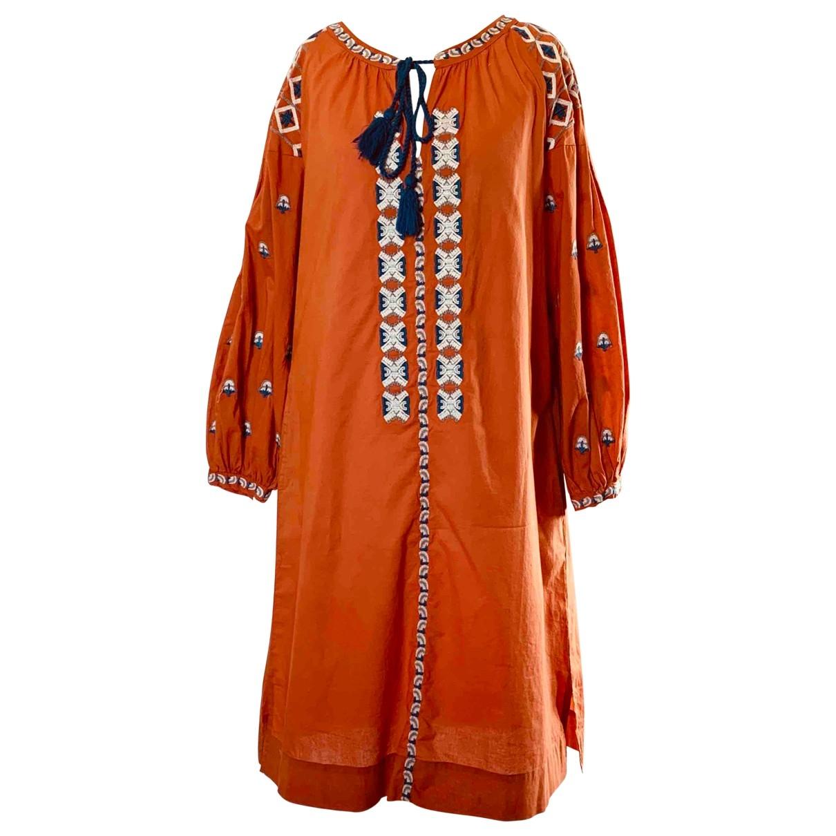 Fragonard \N Kleid in  Orange Baumwolle