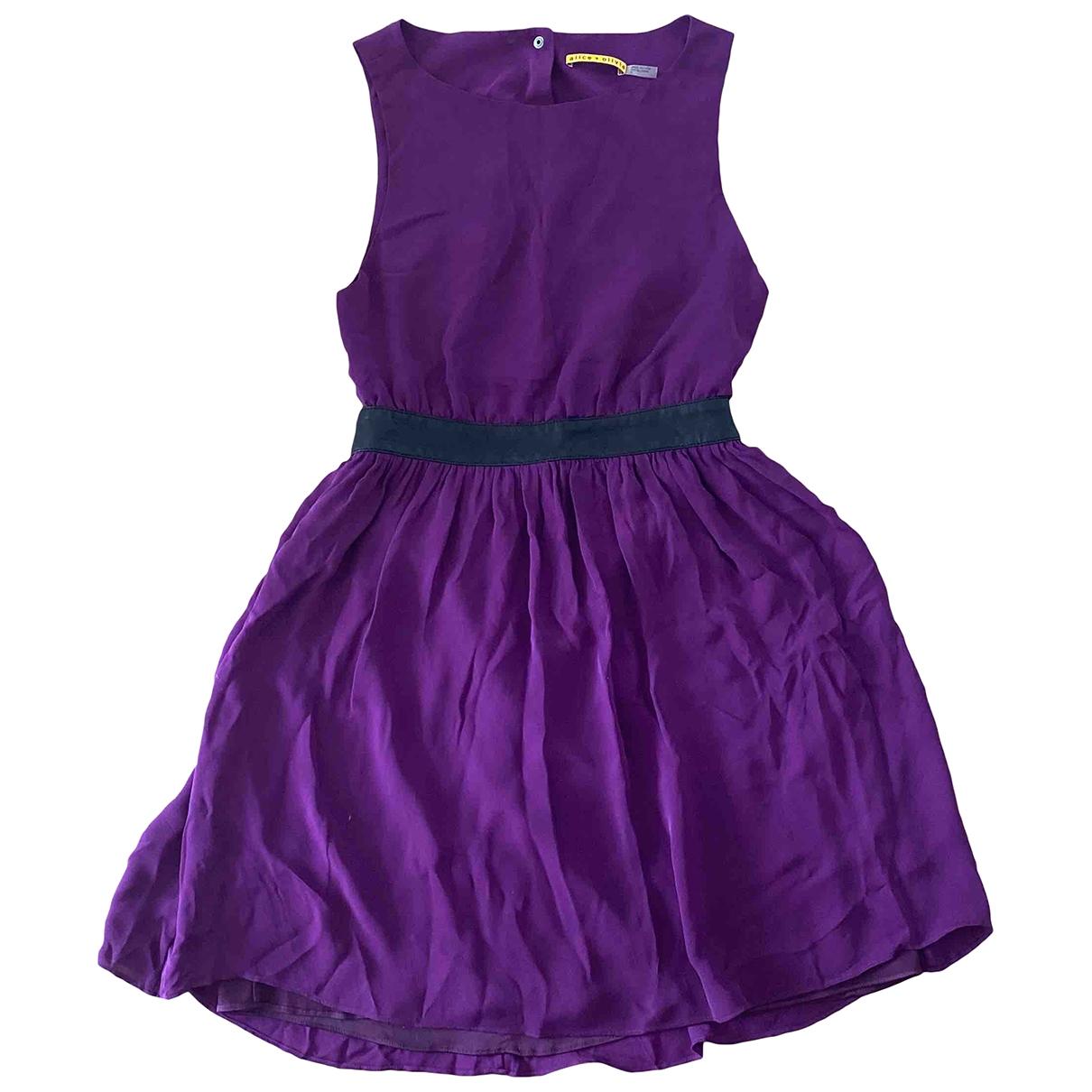 Alice & Olivia \N Purple Silk dress for Women 6 US