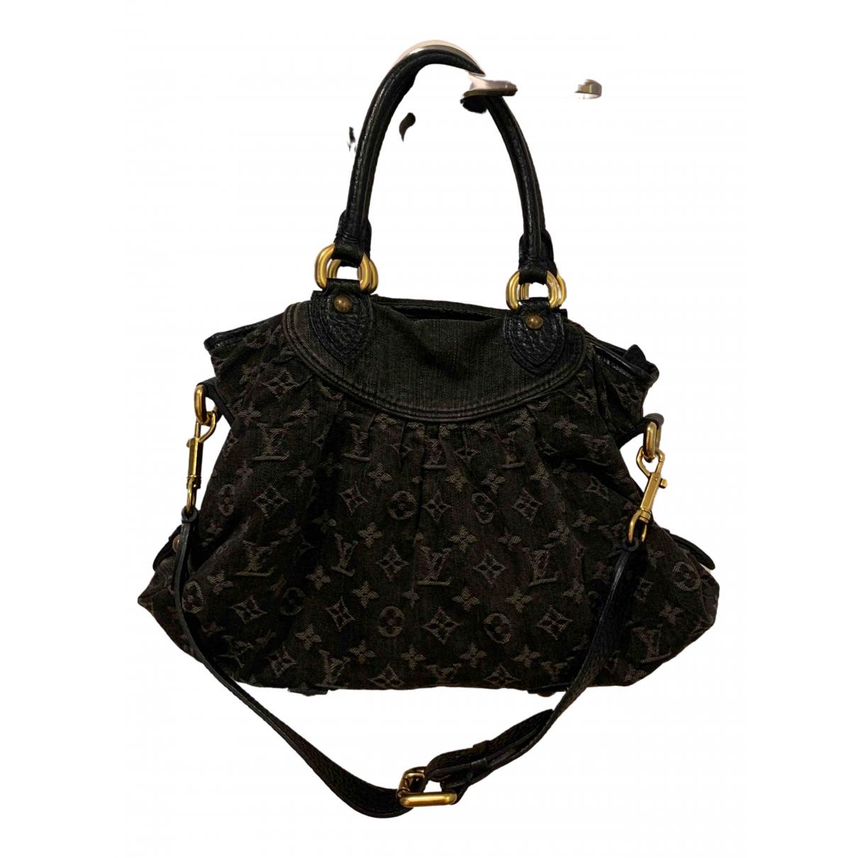 Louis Vuitton Audra Black Denim - Jeans handbag for Women \N