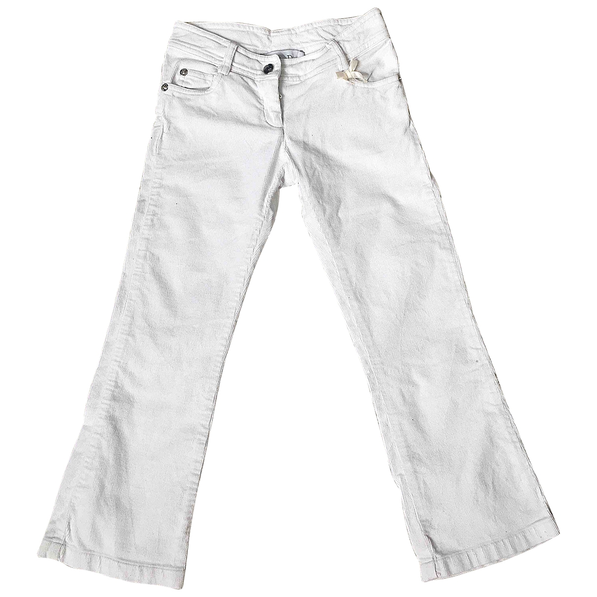 Dior \N White Cotton Trousers for Kids 6 years - up to 114cm FR