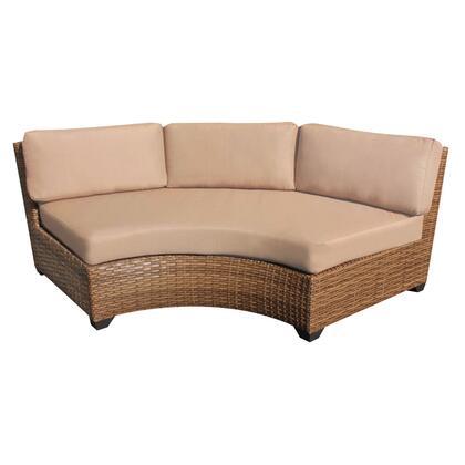 TKC025b-CAS-DB-WHEAT Laguna Curved Armless Sofa 2 Per Box with 2 Covers: Wheat and