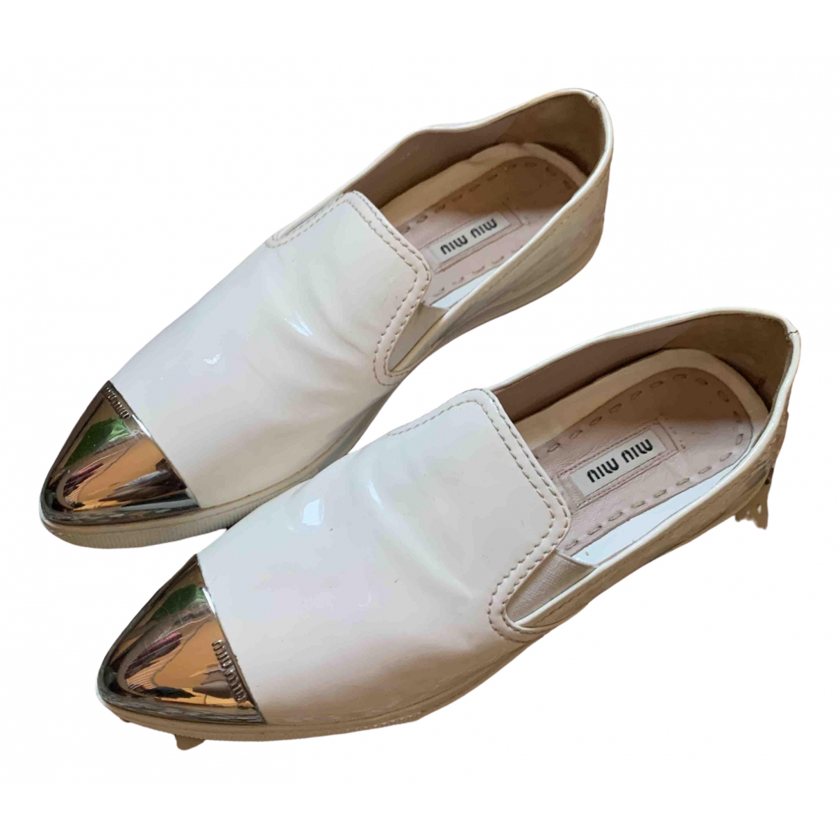 Miu Miu \N White Patent leather Trainers for Women 36 EU