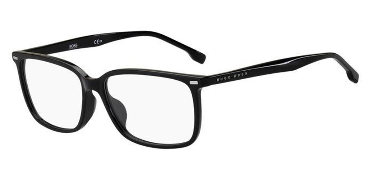 Boss by Hugo Boss Boss 1217/F Asian Fit 807 Men's Glasses Black Size 57 - Free Lenses - HSA/FSA Insurance - Blue Light Block Available