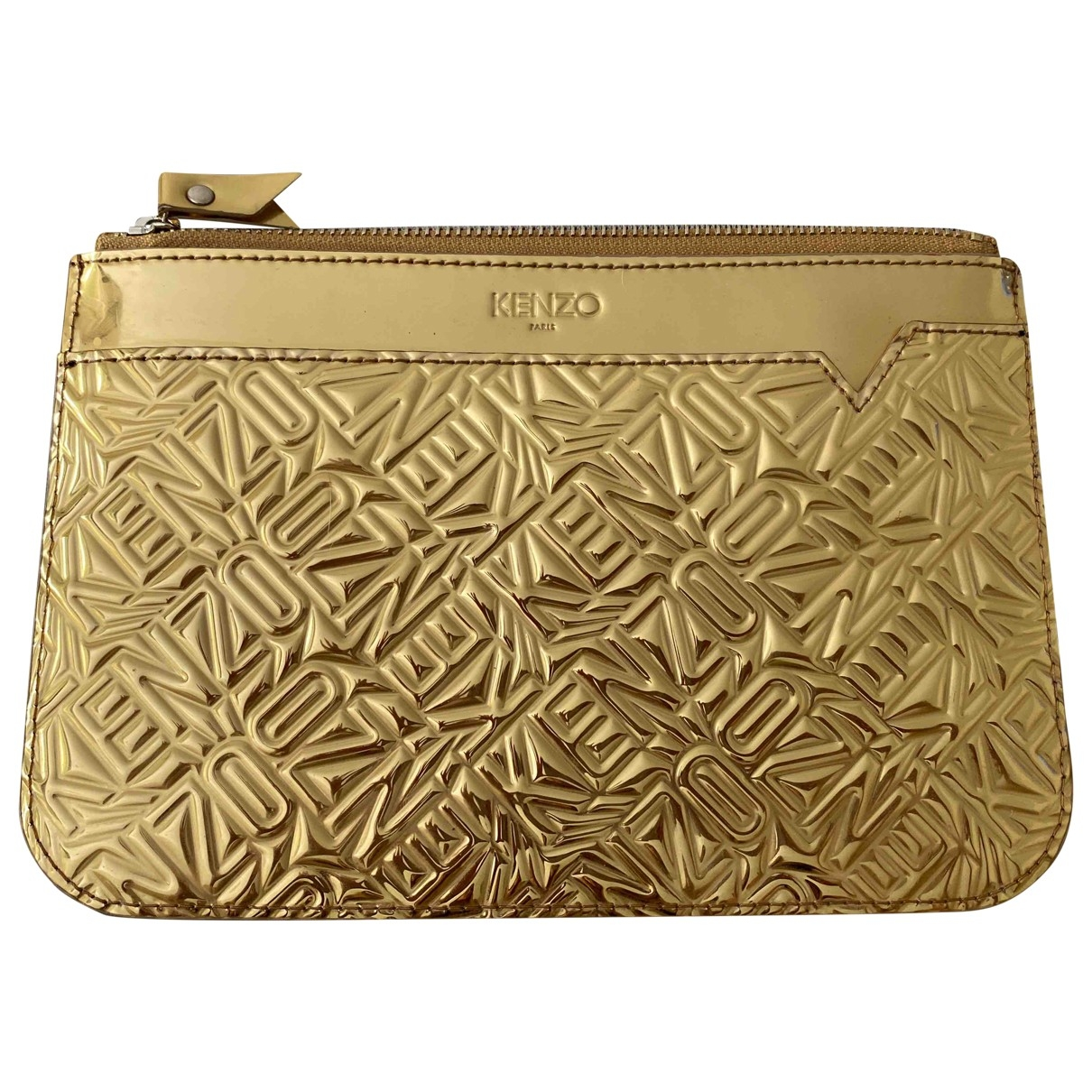 Kenzo \N Gold Leather Clutch bag for Women \N