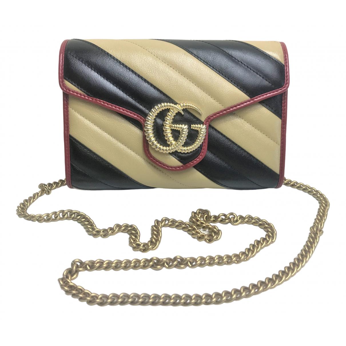 Cartera Marmont de Cuero Gucci