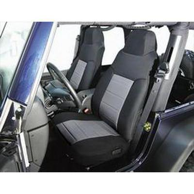 Rugged Ridge Custom Fabric Front Seat Covers (Black/Gray) - 13241.09