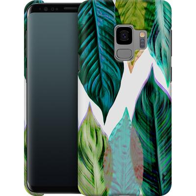 Samsung Galaxy S9 Smartphone Huelle - Green Leaves von Mareike Bohmer
