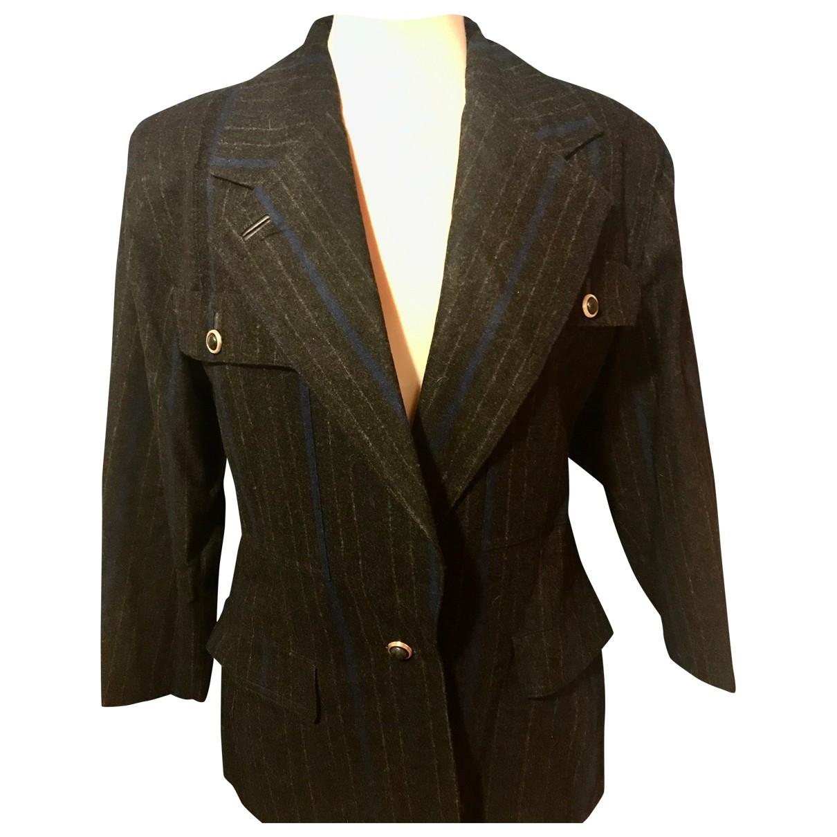 Gianni Versace - Veste   pour femme en laine - anthracite
