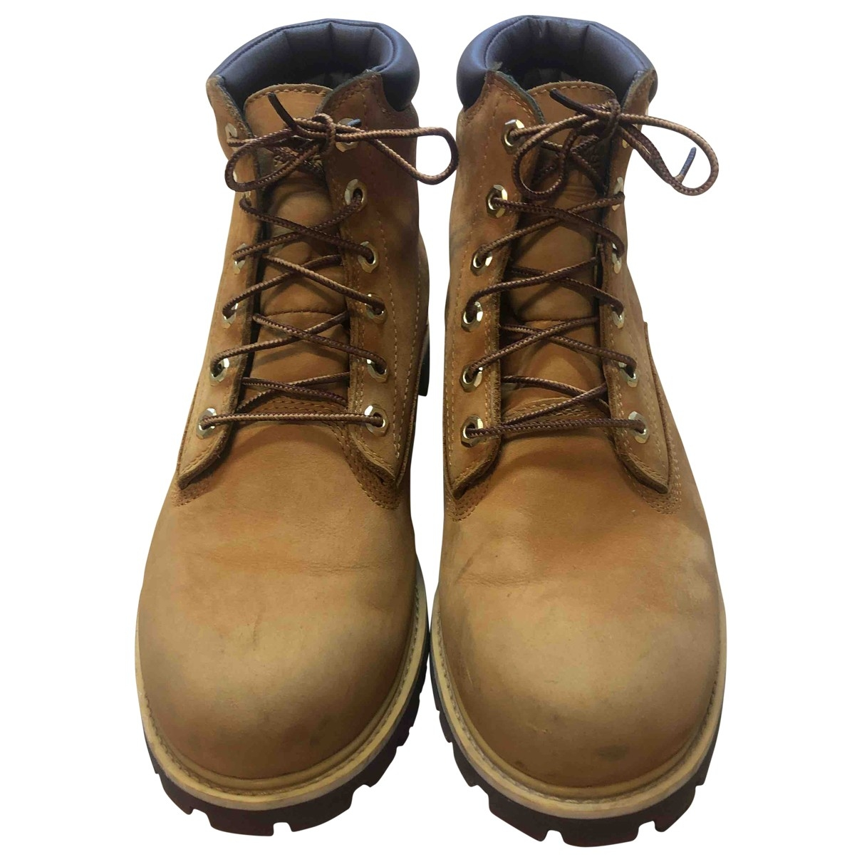 Timberland \N Beige Leather Boots for Men 42 EU