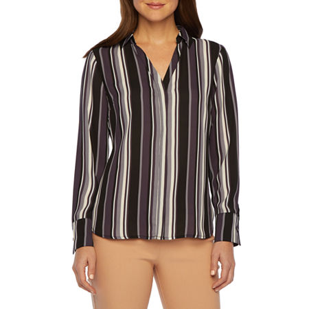 Worthington Essential Soft Blouse, Petite Small , Black