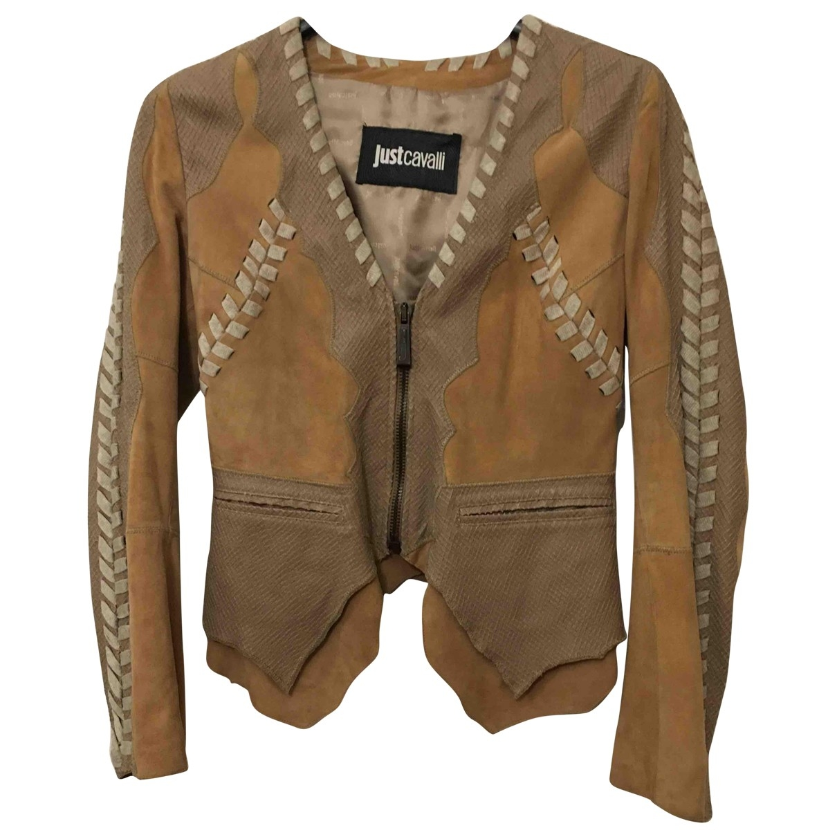 Just Cavalli \N Beige Suede Leather jacket for Women 40 IT