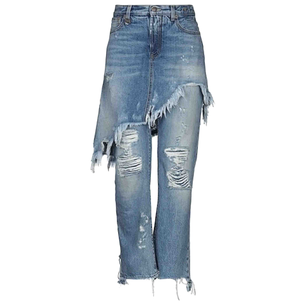R13 N Blue Cotton Jeans for Women 25 US