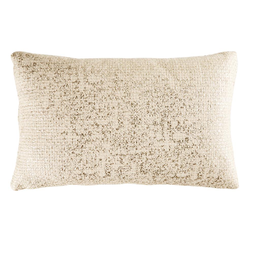 Kissen aus goldfarbener Baumwolle 35x55