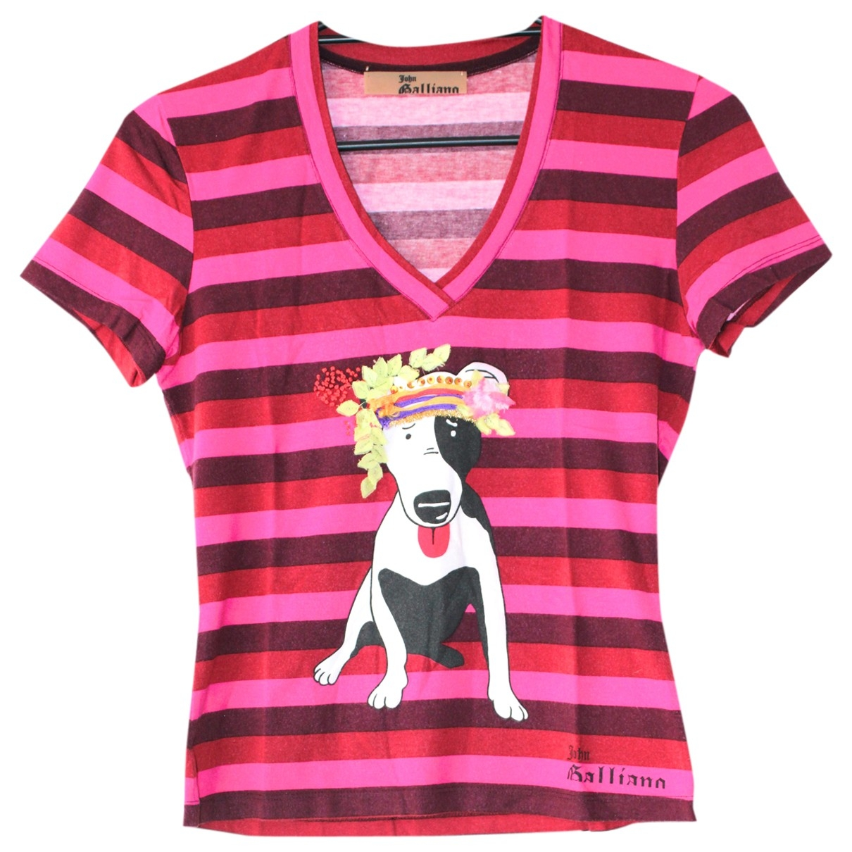 John Galliano - Top   pour femme en coton - rose