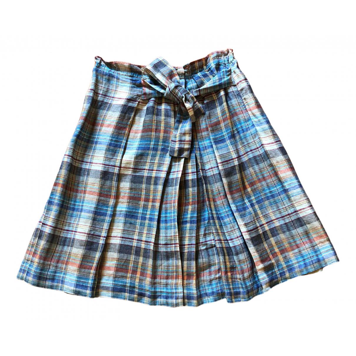 Zara N Multicolour Linen skirt for Women M International