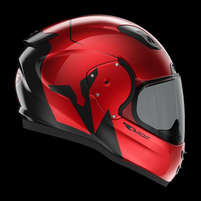 ROOF RO200 Troyan Red Black Full Face Helmet XL