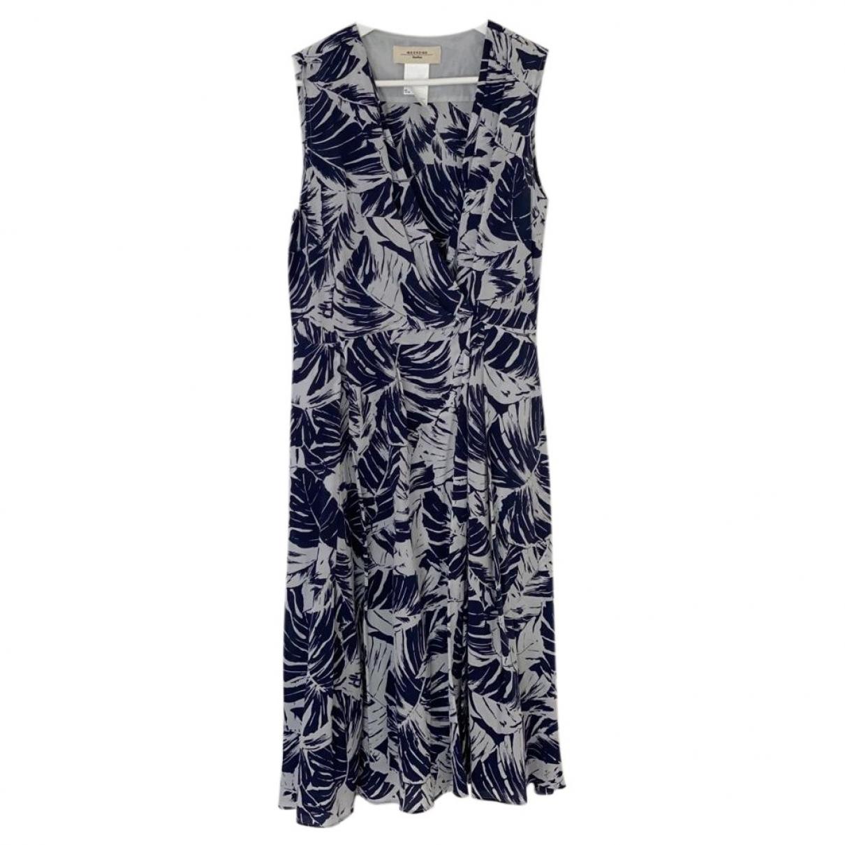 Max Mara Weekend \N Blue Silk dress for Women 42 FR