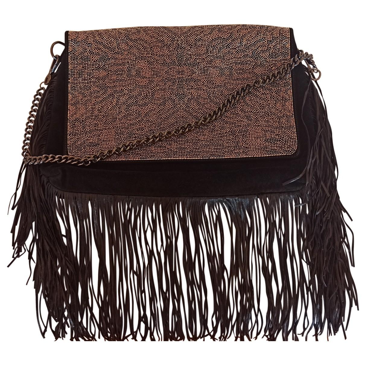 Just Cavalli N Black Suede handbag for Women N