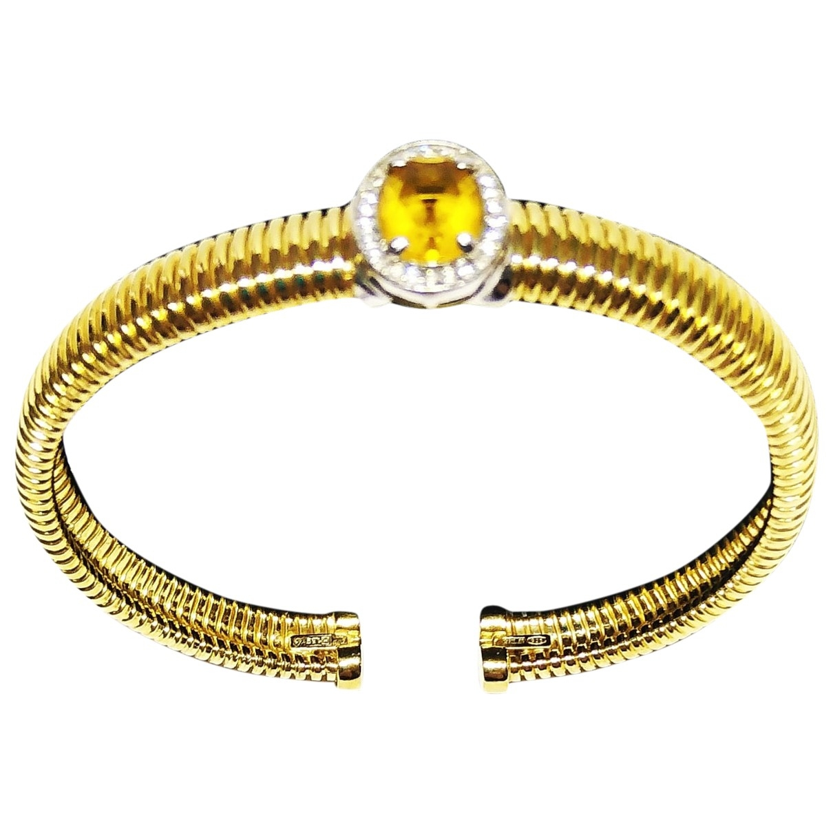 Non Signe / Unsigned \N Armband in  Gold Silber