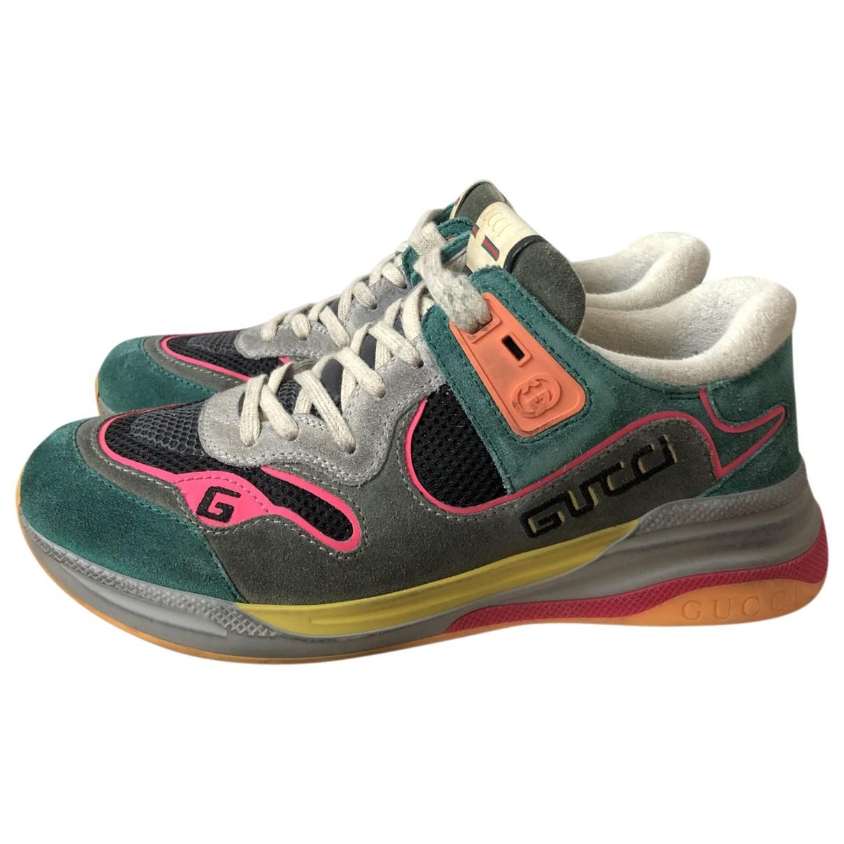 Gucci - Baskets Ultrapace pour homme en suede - multicolore