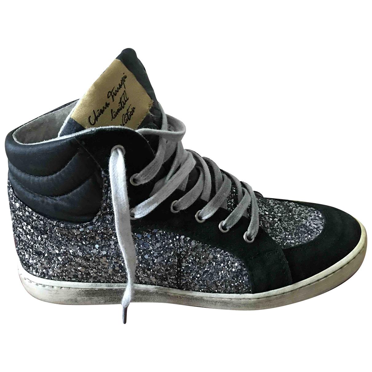 Chiara Ferragni \N Sneakers in  Silber Mit Pailletten