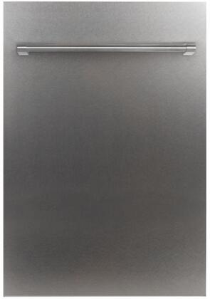 DP-SS-H-18 18 Stainless Steel Dishwasher Panel with Traditional Handle (Dishwasher Sold
