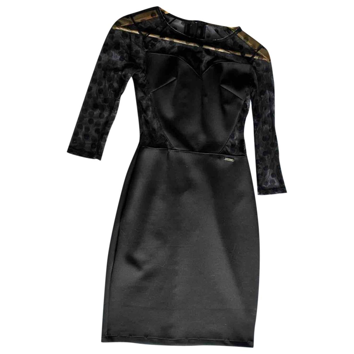 Guess \N Kleid in  Schwarz Synthetik