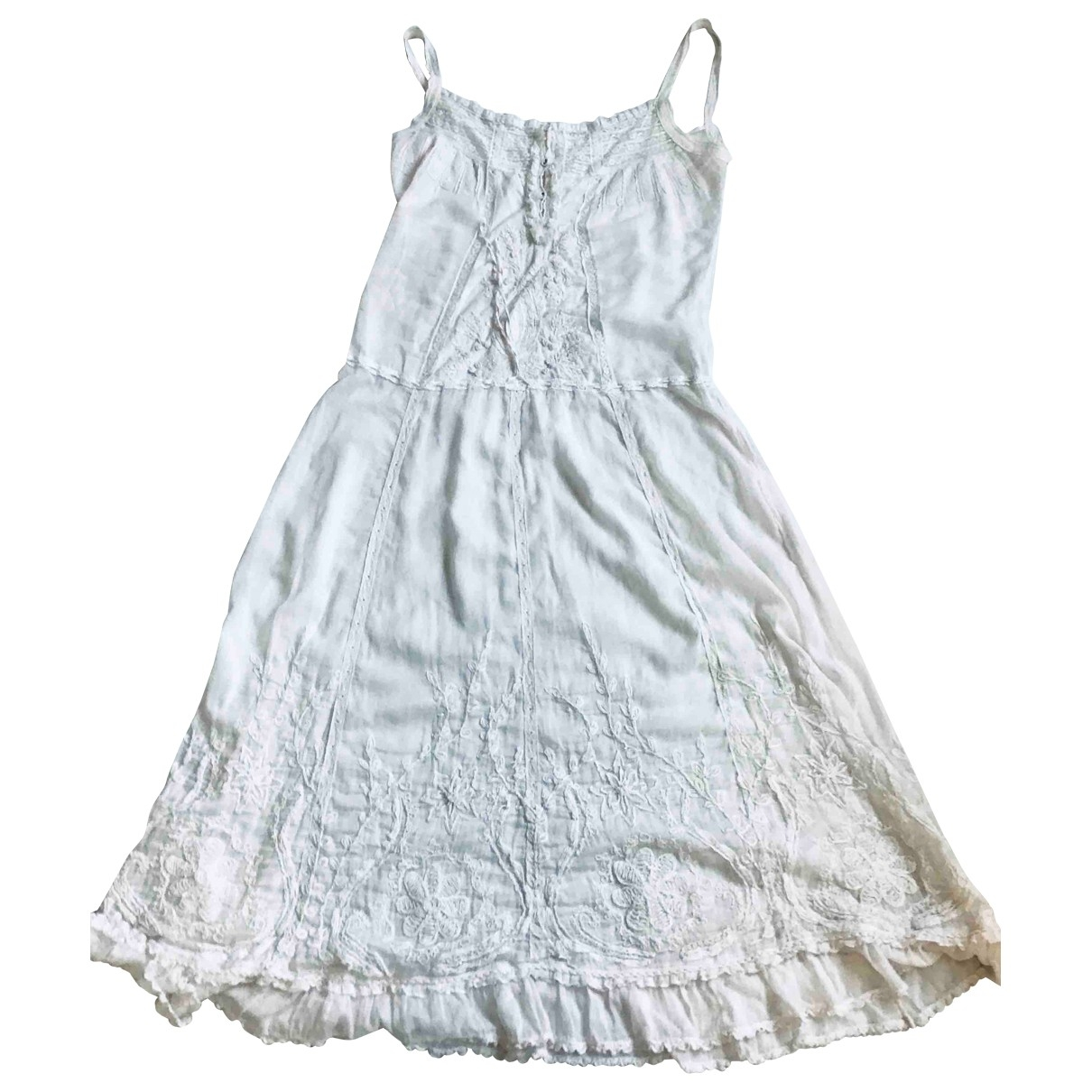 Non Signé / Unsigned \N White Cotton dress for Women M International
