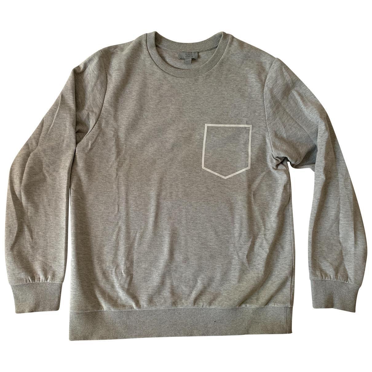 Cos \N Pullover.Westen.Sweatshirts  in  Grau Baumwolle