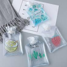 1pc Fruit & Plant Print Clear Random Hot Water Bag
