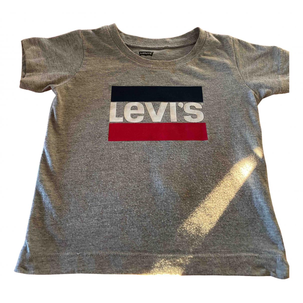 Levis - Top   pour enfant en coton - gris