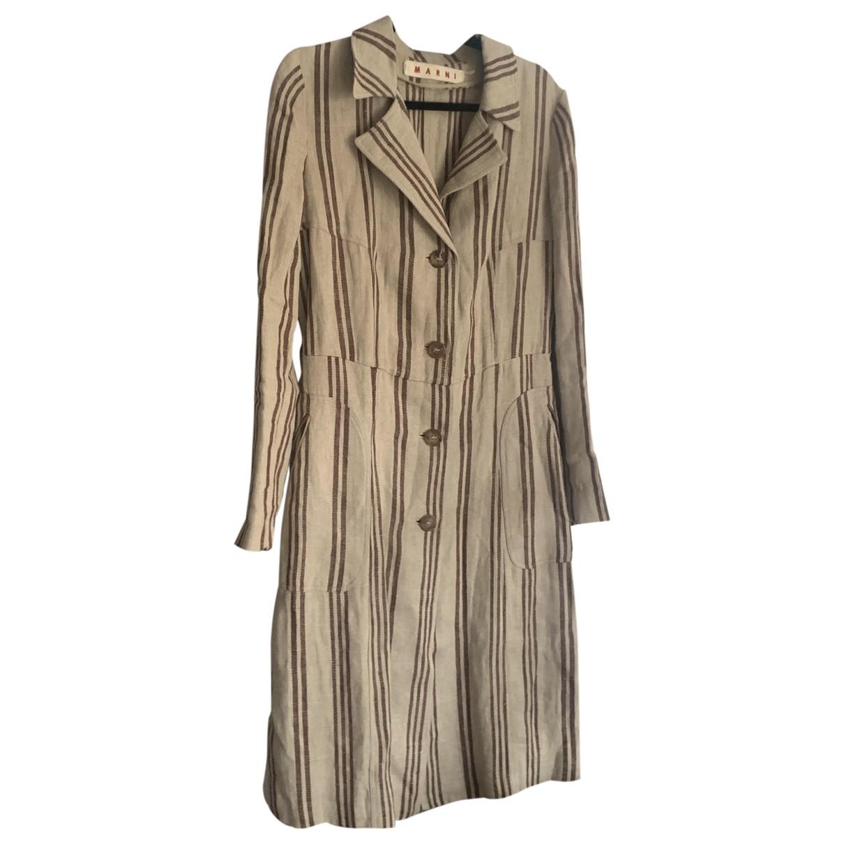 Marni \N Beige Linen coat for Women 44 FR