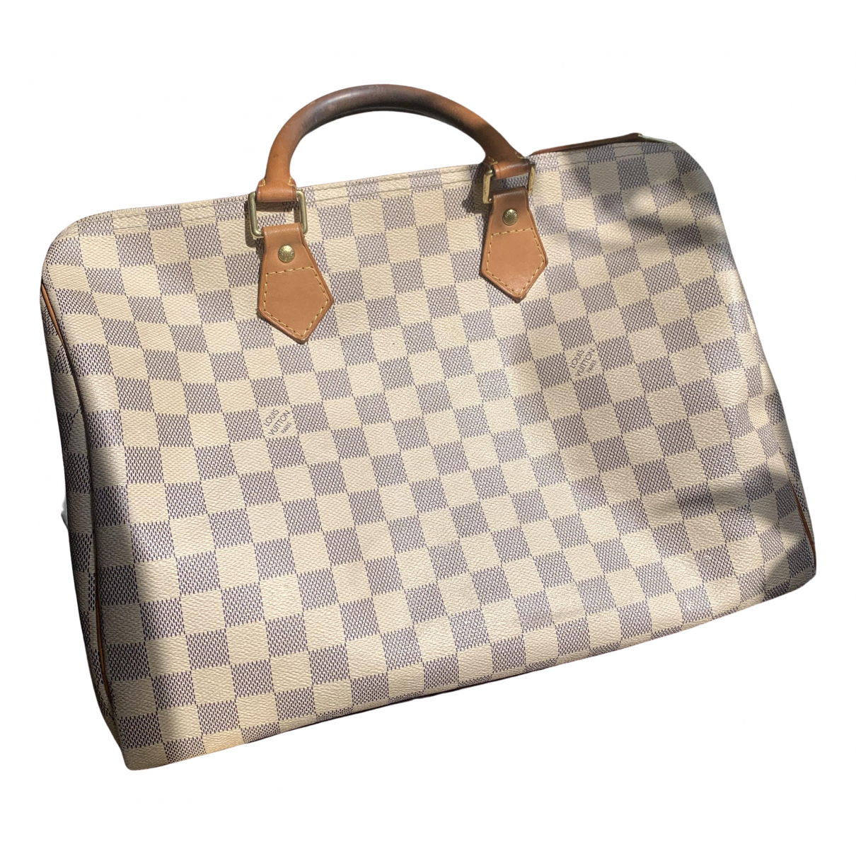 Louis Vuitton Speedy Handtasche in  Ecru Leinen