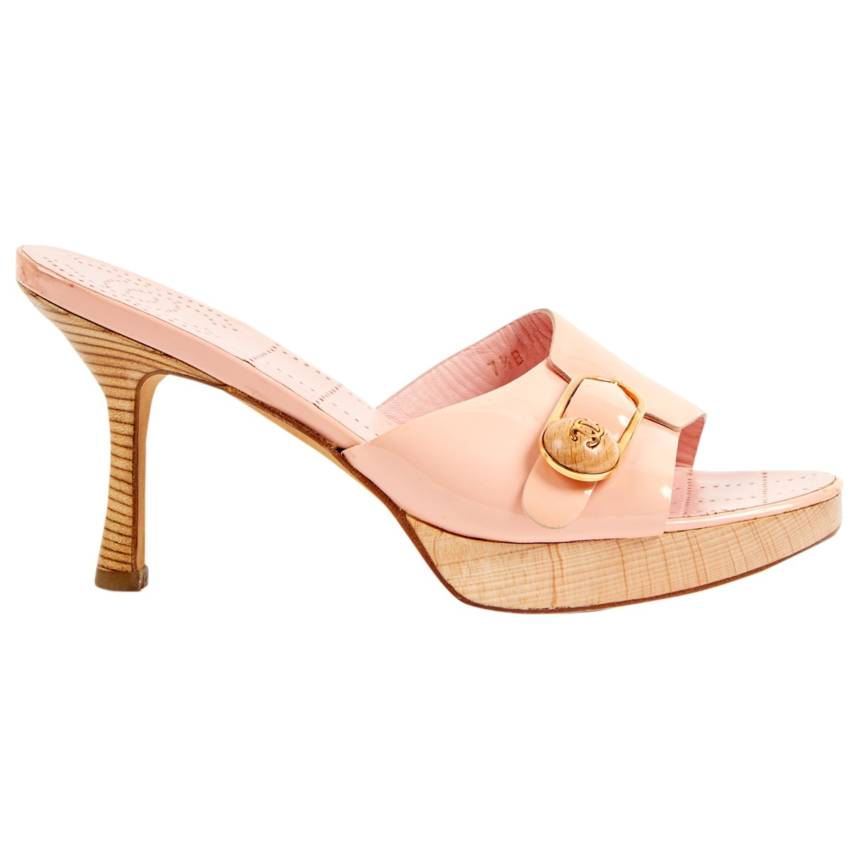 Chanel \N Pink Patent leather Heels for Women 37.5 EU