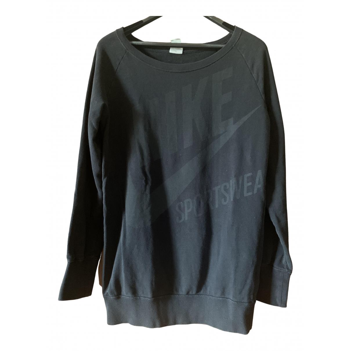 Nike - Pull   pour femme en coton - noir