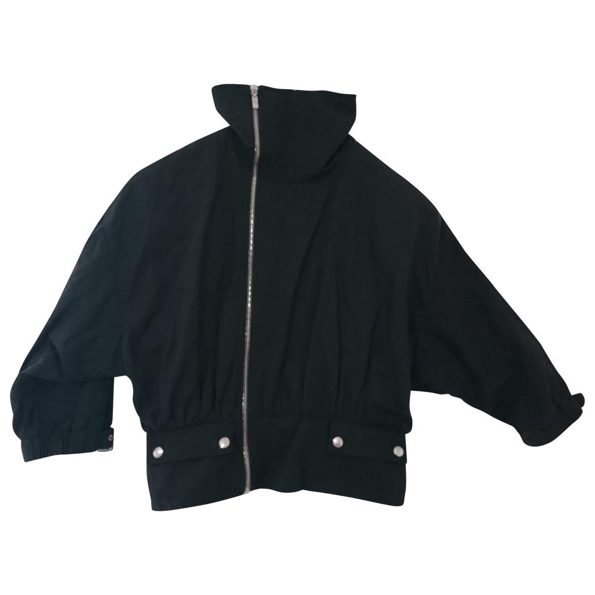 Trussardi Jeans \N Jacke in  Schwarz Baumwolle
